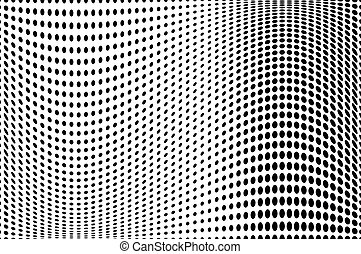 dotted, model, abstract, golf, achtergrond., halftone