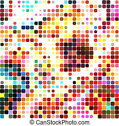 Dotted Mosaic Textile Pattern