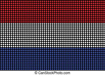 Dotted Netherlands flag