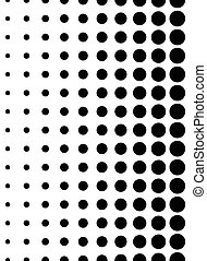Dotted pattern. Vertically seamless. Dots, halftone ...