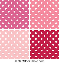 Dotted retro pattern collection for Valentine`s day