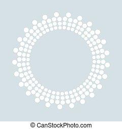 Dotted shape. Vector design element.