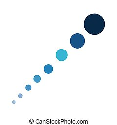dotted shaped line up isolated white background vector illustration