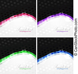 Dotted shiny wave background