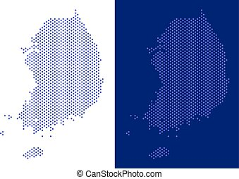 Dotted South Korea Map