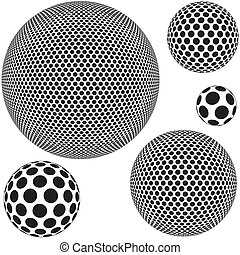 Dotted Sphere - Abstract Background Illustration, Vector