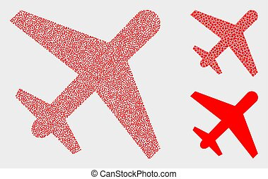 Dotted Vector Airplane Icons