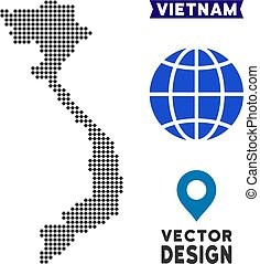 Dotted Vietnam Map