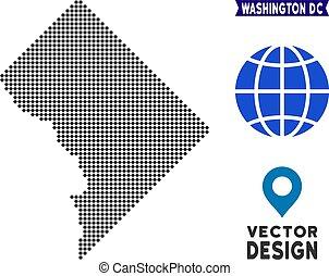 Dotted Washington DC Map - Dot Washington DC map. Vector...