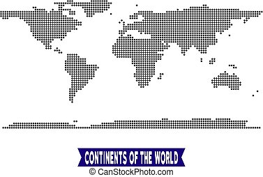 Dotted World Continent Map