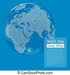 Dotted World Map Background. Earth Globe. Globalization ...