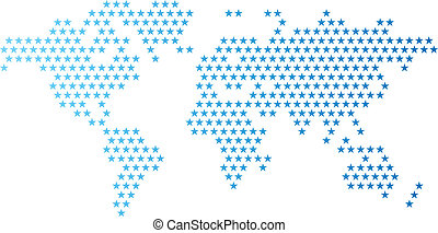 World map made of dots with banner background space for text clip dotted world map made of star shape gumiabroncs Choice Image