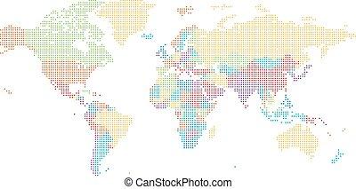 Dotted world map of square dots on dark background vector clip dotted world map of square dots gumiabroncs Image collections