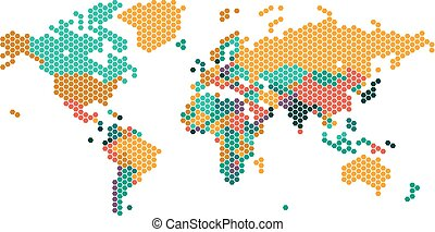 Political dot world map with countries vector illustration dotted world map with countries borders gumiabroncs Choice Image