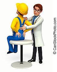 dottore, analizzare, paziente