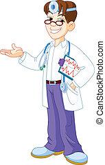 dottore, con, appunti