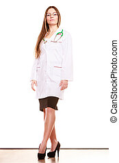 dottore donna, salute medica, cura, stethoscope.