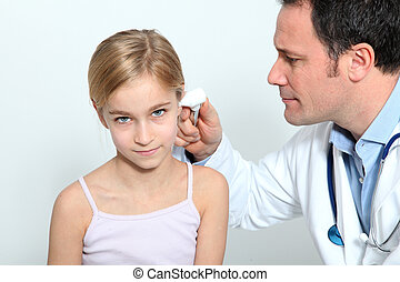 dottore, fare, bambino, controllo medico