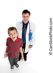 dottore, paziente, bambino