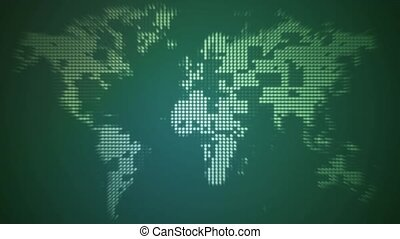 Light world map loop spinning green world map on light bulb clean dotty world map hd loop loopable animated background gumiabroncs Image collections