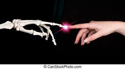 dotykanie, palce