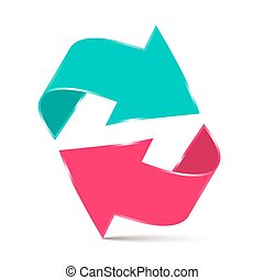 Double Arrow - 3D Vector Illustration