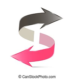 Double Arrow Vector Illustration