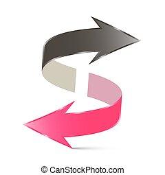 Double Arrow Vector Illustration