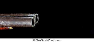 Double barrel Shotgun.