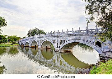 Double Beauty Bridge in Jurong, Singapore