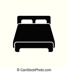 Double bed vector icon for graphic design, logo, web site, social media, mobile app, ui illustration