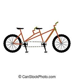Double bicycle icon