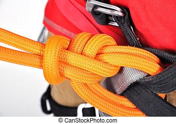double bowline knot, close up