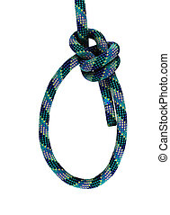 double bowline knot - double bowline loop knot in blue and ...