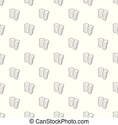 Double building pattern vector seamless