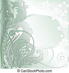 double, cadre, arrière-plan vert