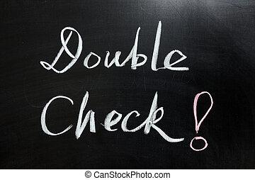 double, chèque