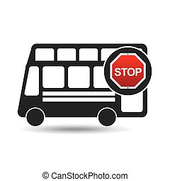 double decker bus stop road sign design