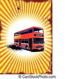 Double Decker  red bus. Vector ill