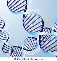 double DNA helix, biochemical abstract background