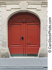 Double entrance door