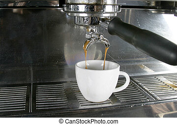 Double Espresso - Drawing a double into an espresso, ...
