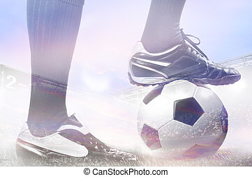 legs of a soccer or football player