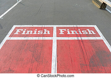 Dual Finish Line at Red Running Sports Track