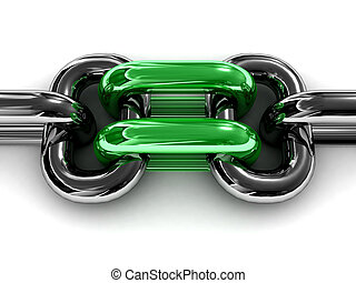Double green chain link.