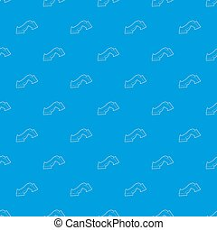 Double headed arrow pattern seamless blue