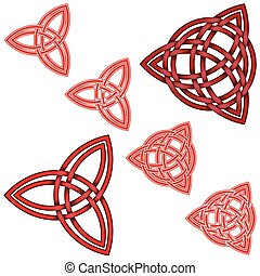 double, imbriqué, wicca, conception, triquetra, cercle, ...