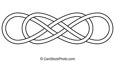 Double knot infinity sign vector double infinity logo tattoo