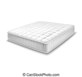 Double Mattress In Realistic Style - Double white mattress...
