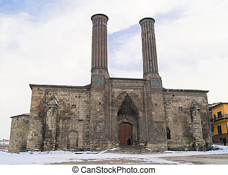 It is one of the biggest medresse in Anatolia. Open court, four per hals and two storey medresse are thought to be built in the Ilhaind period and the and of the 13 th Century and begining of the 14 th Century. In the Ottoman period the building was used as an arsenal during the time of Murat the ...